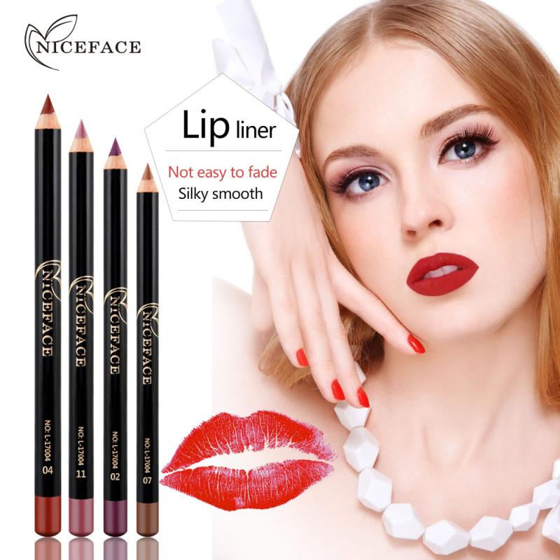 12 Colors New Fashion Matte Lip Liner Lipstick Pen Long Lasting Pigments Waterproof No Blooming Smooth Soft Makeup Tool TSLM2