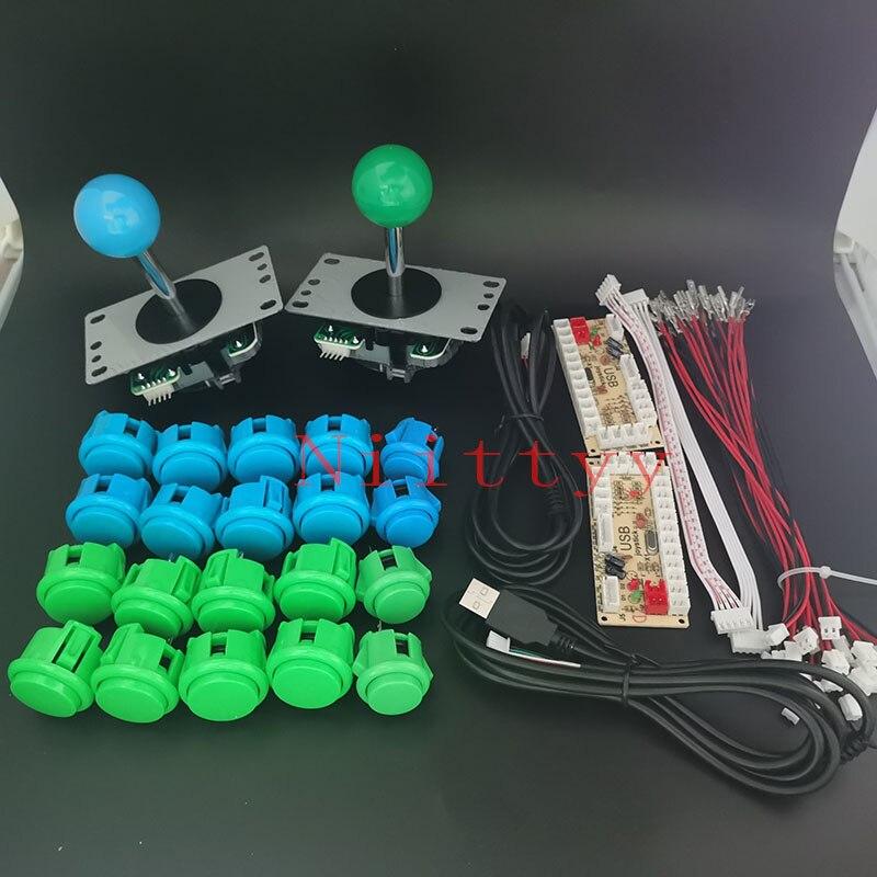 Аркадный джойстик, набор «сделай сам», кнопки SANWA, Нулевая задержка, контроллер для настольных игр USB, джойстик, кодировщик для ПК/игровой маш...