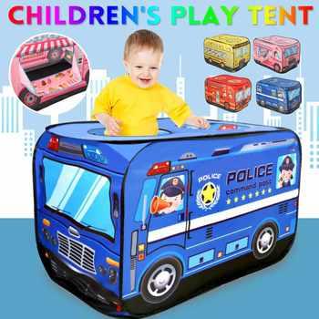 Zabawkowy domek do zabawy namiot wóz strażacki autobus składany do zabawy domek do zabawy dla dzieci namiot do zabawy dla dzieci Model domu przeciwpożarowego tanie i dobre opinie LBLA Z tworzywa sztucznego 3 lat