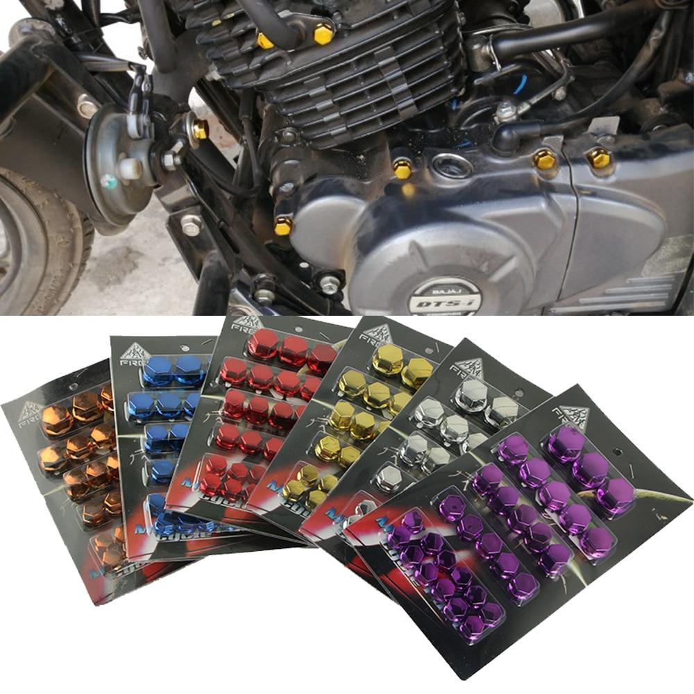 30Pcs Motorcycle Screw Nut Bolt Cap Cover For Yamaha Kawasaki Honda Harley Set