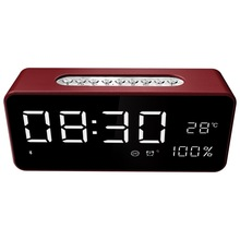 Wireless Bluetooth Speaker Big LED Display Alarm Clock Portable Stereo Subwoofer Speaker AUX TF USB MP3 Player FM Radio bluedio 2 1 stereo wireless bluetooth speaker subwoofer portable mp3 player audio support fm radio tf card play music aux in