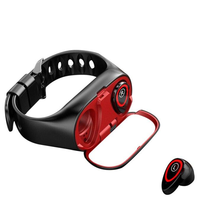 2-em-1 relógio inteligente com fones de ouvido