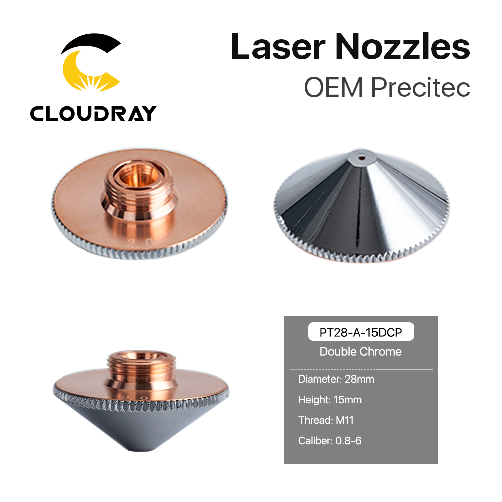 Cloudray Laser Nozzle Single Double Layer Dia.28mm Caliber 0.8 - 6.0 P0591-571-0001 For Precitec WSX FIBER Laser Cutting Head