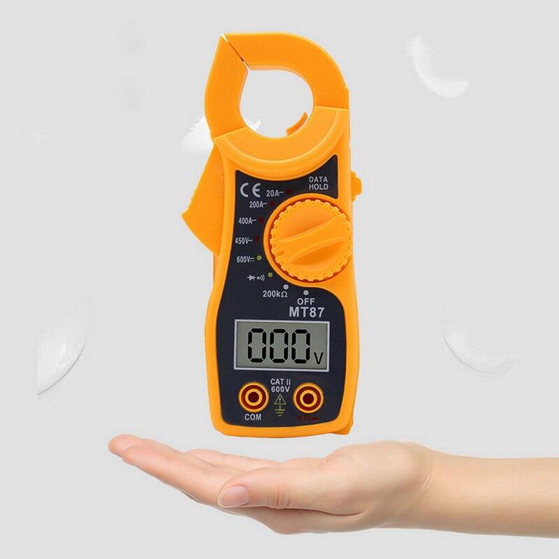 고정밀 디지털 클램프 멀티 미터 전류 전압 트랜지스터 테스터 전력계 암페어 클램프 미터 테스트 전류 클램프 MT87