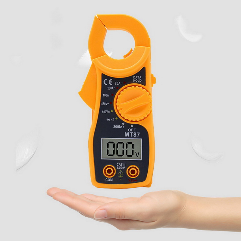 High Precision Digital Clamp Multimeter Current Voltage Transistor Tester Power Meter Ampere Clamp Meter Test Current Clamp MT87