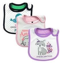 100%Cotton Baby Bib Infant Saliva Towels Waterproof Bibs Newborn Wear Cartoon Accessories