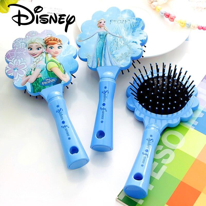Disney reine des neiges peigne pour filles princesse brosses à cheveux soins des cheveux bébé fille soins enfants enfants adulte Mickey cheveux peigne Disney jouets 1PC