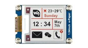 Image 1 - Waveshare 200x200 1.54 אינץ E דיו תצוגת מודול אדום/לבן/שחור שלושה צבע e נייר עבור פטל Pi / STM32 SPI ממשק