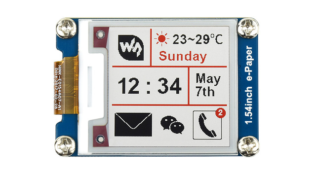 Waveshare 200x200 1.54 אינץ E דיו תצוגת מודול אדום/לבן/שחור שלושה צבע e נייר עבור פטל Pi / STM32 SPI ממשק