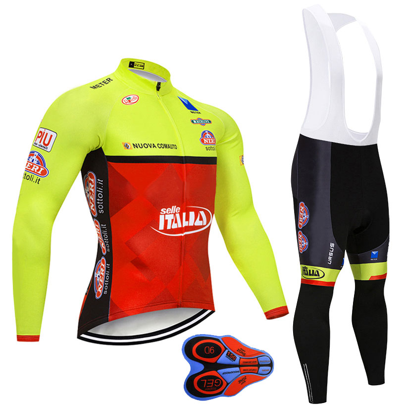 Moxilyn FLUOR ITALIA CYCLING TEAM JERSEY Bibs pants set Ropa Ciclismo MENS winter thermal fleece pro <font><b>BIke</b></font> jacket Maillot <font><b>wear</b></font> image