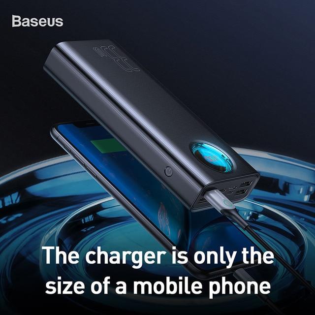 Baseus 30000mAh Power Bank USB C PD Quick Charge 3.0 30000 mAh Powerbank For Xiaomi Mi iPhone Portable External Battery Charger 2