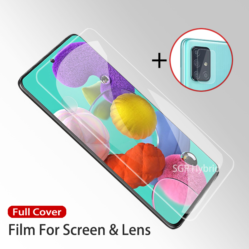 2 In 1 Hydrogel Film For Samsung Galaxy A71 A51 A 71 51 Protective Film On The For Samsung A71 A51 Water Gel Film Not Glass