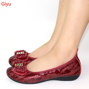 The biggest ladies flat shoes for African ladies shoes with winee soft soles banquet dancing noble comfortable shoes!HTY1-3