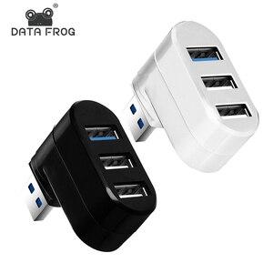 Mini Hub USB multi-ports 2.0/3.0 à rotation haute vitesse, séparateur adaptateur pour ordinateur portable Notebook, accessoires d'ordinateur