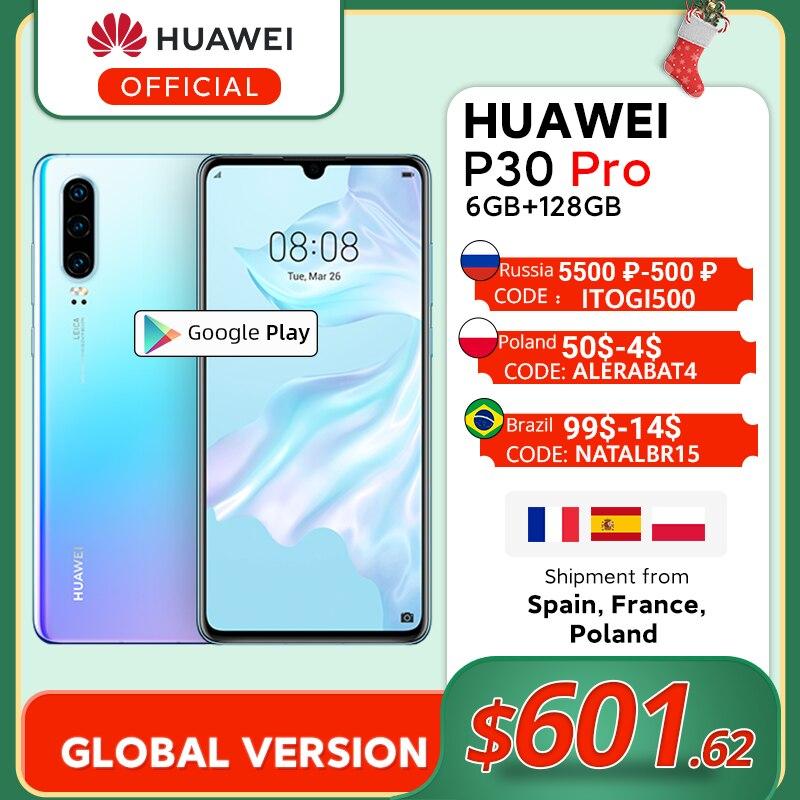 Global Version Huawei P30 Pro 6GB 128GB Kirin 980 Octa Core Smartphone 50x Digital Zoom Quad Camera 6.47'' Full Screen OLED|Cellphones| - AliExpress