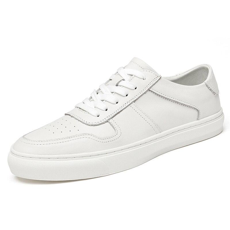 Zapatos De Golf De Cuero Genuino Para Hombre, Zapatillas Blancas Antideslizantes Para Correr Y Caminar, Zapatos De Cuero Para La Escuela, Alta Calidad, Británico, Nuevos