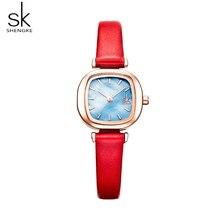 Shengke Casual Womens Watches Leather Quartz Ladies Watch Women Clock Wrist Watch Relogio Feminino Bayan Kol Saati Gift