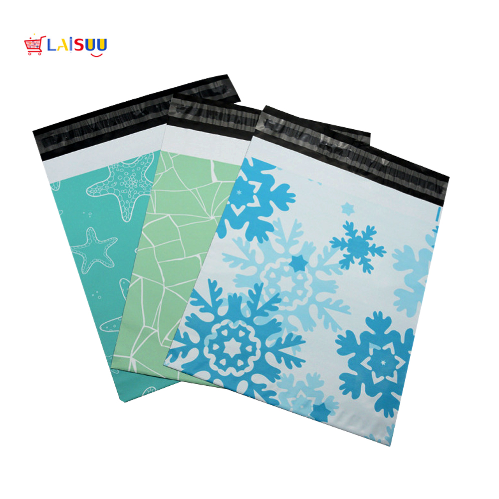 A4 25.5*33cm 10*13 inch Personalise Pattern Poly Mailers Self Seal Plastic mailing Envelope Bags 100 per pack Free Shipping image