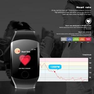 Image 2 - 2019 neue Q11 Super Lange Standby Smart Uhr Blutdruck Herz Rate Monitor Fitness Armband Uhr Männer Frauen Smartwatch PK q9