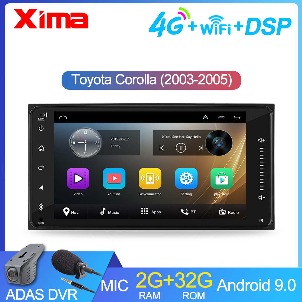 2 din android 9.0  Car Multimedia Player  for toyota VIOS CROWN CAMRY HIACE PREVIA COROLLA 2003 2005  2Din autoRadio dvd Player|Car Multimedia Player|   - AliExpress