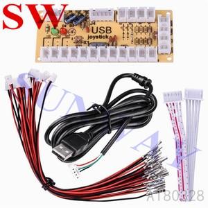 Image 3 - DIY Arcade Joystick Kit 5Pin Joystick Cable 24mm/30mm Buttons USB Encoder Oval ball top joystick 5 Color Optional