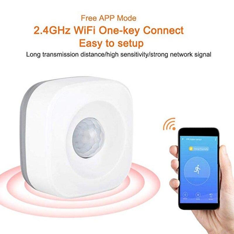 Sensor de Movimento para Alarme de Segurança de Escritório em Casa Compatível com Tuya Wifi Ifttt Pir