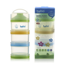 Детские Портативные трехслойные молочные Бутылочки для присыпки большой объем три сетки резервуар для хранения прозрачный молочный контейнерная упаковка решетка a