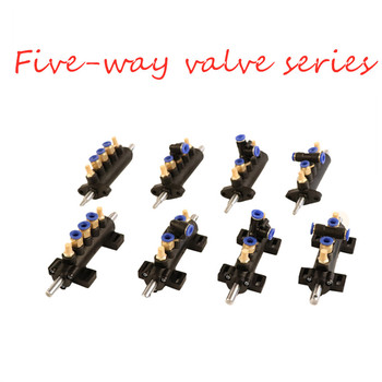 3/2 Five-Way Foot Padel Control Valve Tire Bead Breaker Cylinder Tube Switch Car Tyre Changer Fittings Hot Sale