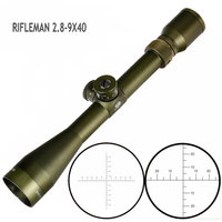 EB RIFLEMAN 2.8 9X40 FFP Hunting Riflescope First Focal Plane Glass Etched Reticle Tactical Optical Sights Turrets Lock Reset|Riflescopes| |  -