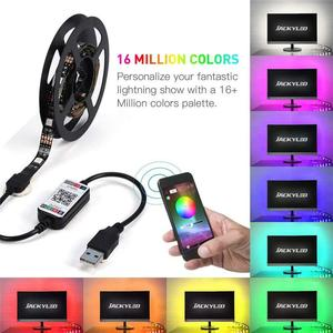 5V 1A RGB Светодиодная лента USB контроллер приложение Bluetooth 16 миллионов цветов Светодиодная лента Bluetooth светодиодная подсветка ТВ