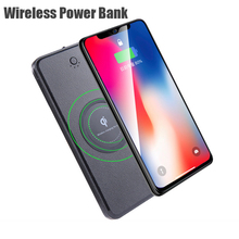 10000mAh Wireless Charger Power Bank for IPhone Samsung Powerbank Dual USB Charger Wireless External Battery Pack Bank стоимость