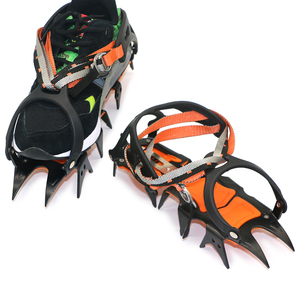 Image 3 - 12 Teeth Crampons Manganese Steel Climbing Gear Snow Ice Anti Skid Climbing Shoe Grippers Mountaineering Crampon Traction Device