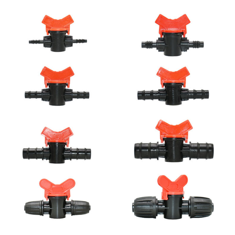 Tuinslang 4/7 8/11/10/ 16/ 20/ 25Mm Tuin Tap Irrigatie Miniatuur Klep barb Regelklep Kraan Voor Irrigatie 25 Stuks