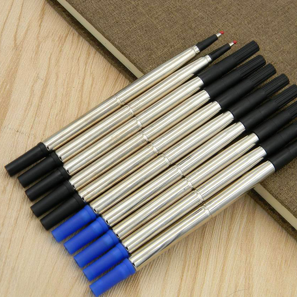 5pcs Blue or  5pcs black Rollerball Pen 0.5mm Refill For Stationery Free shipping