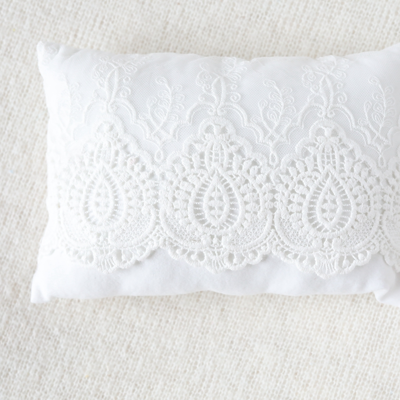 New   days Filled Pillows for Newborn Photography Posing Props Accessories Lace Fabric Floral Pillow