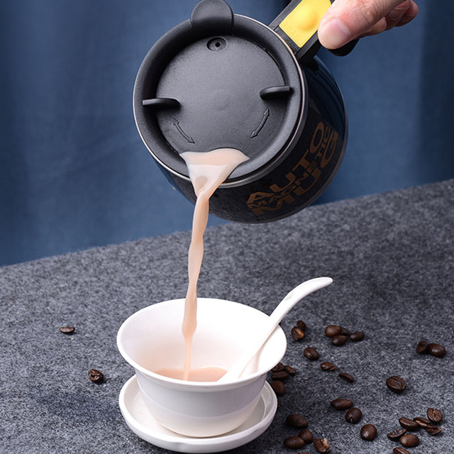 New Automatic Self Stirring Magnetic Mug Creative 304 Stainless Steel Coffee Milk Mixing Cup Blender Smart Mixer Thermal Cup 2