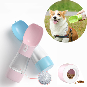 Lightweight Pet Cat Dog Food Water Bottle Feeder Drinking Bowl Dispenser With Container Leak Proof Lock Grade Material - discount item  20% OFF Pet Products