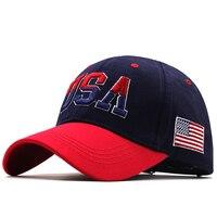 Nova marca eua bandeira boné de beisebol para homem feminino algodão snapback chapéu unisex américa bordado hip hop bonés gorras casquette