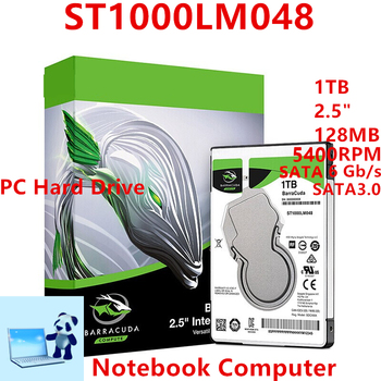 "Nowy dysk twardy dla Seagate marki BarraCuda 1TB 2.5 ""SATA 6 Gb/s 128MB 5400 obr/min dla wewnętrzny dysk twardy dla notebooka HDD dla ST1000LM048"