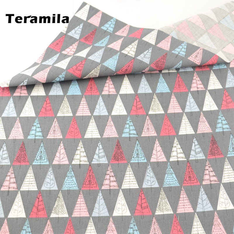 Teramila 직물 인쇄 만화 나무 패턴 100% 면 높은 품질의 재봉 조직 퀼트 패치 워크 Tecido 인형 CM