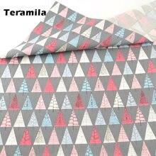 Ткань teramila с принтом мультяшных деревьев 100% хлопок высокое