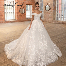アシュリーキャロルセクシーな恋人の王女のウェディングドレス2020ビーズアップリケレースアップaラインの花嫁のウェディングドレス
