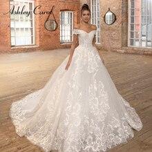 Ashley Carol Sexy Schatz Prinzessin Hochzeit Kleid 2020 Perlen Appliques Lace Up A Line Braut Kleider Vintage Hochzeit Kleider