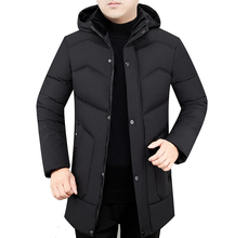 Men Winter Hooded Parkas Black Green Puffer Basic Jackets With Warm Lightweight Thermal Puff Coat Male Quilted Outerwear