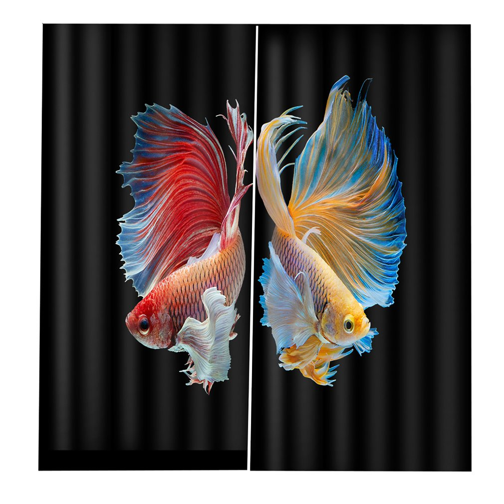1105238465 Goldfish Curtain 140*100 Creative Home Interior Bedroom Living Room Curtain Hotel Decorative Curtain