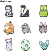 Geekcoco Cartoon Fashion Enamel Pin Collection Brooches Cute Art Lapel Pins Backpack Badge Collar Jewelry RK0019 10pcs lot j1235 geekcoco cartoon enamel pins collection jewelry brooches denim shirt collar badge lapel pins friends gifts