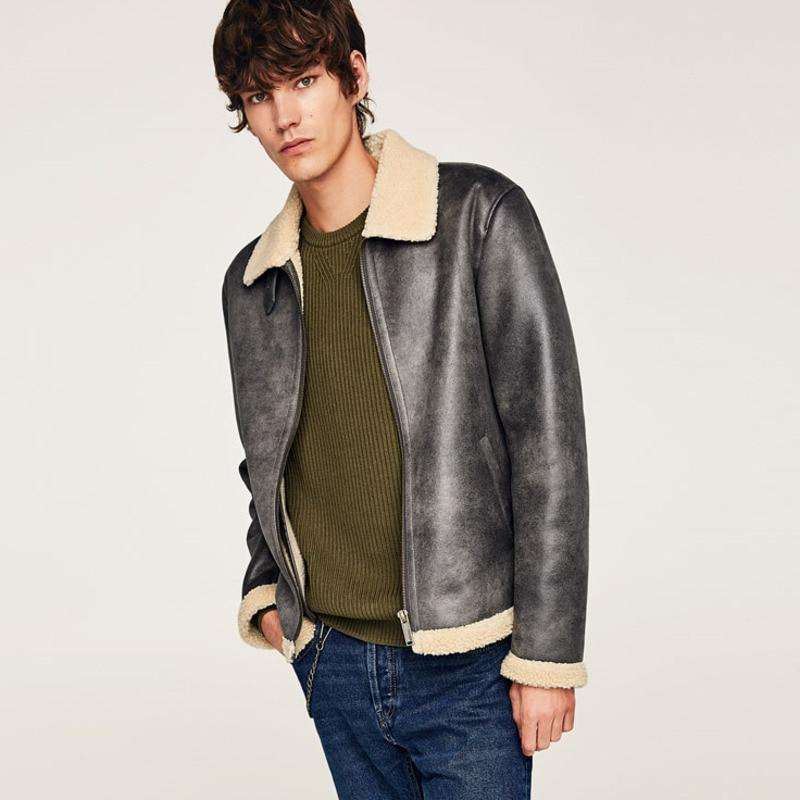 EWQ/2019 Новая модная осенне зимняя короткая бархатная куртка для мужчин свободного покроя с лацканами в японском стиле Chaqueta Hombre 9A164 - 4