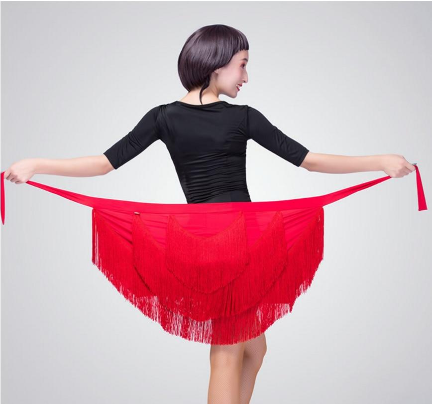 2020 New Style Tassels Triangular Binder Yi Pian Qun Adult Skirt Latin Dance Clothing Women's Hip Scarf Practice Skirt