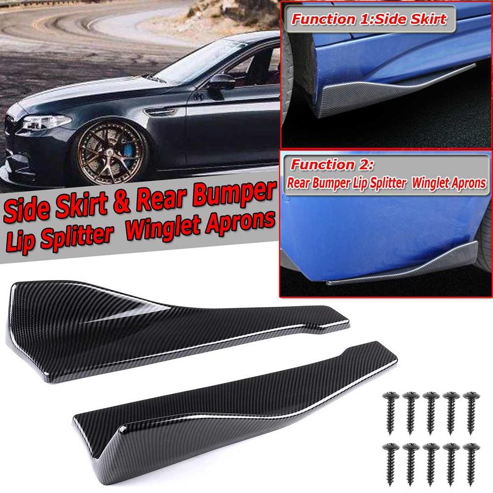 Universal Polyurethane Winglet Type-3 Front Bumper Lip Canard Splitter Diffuser