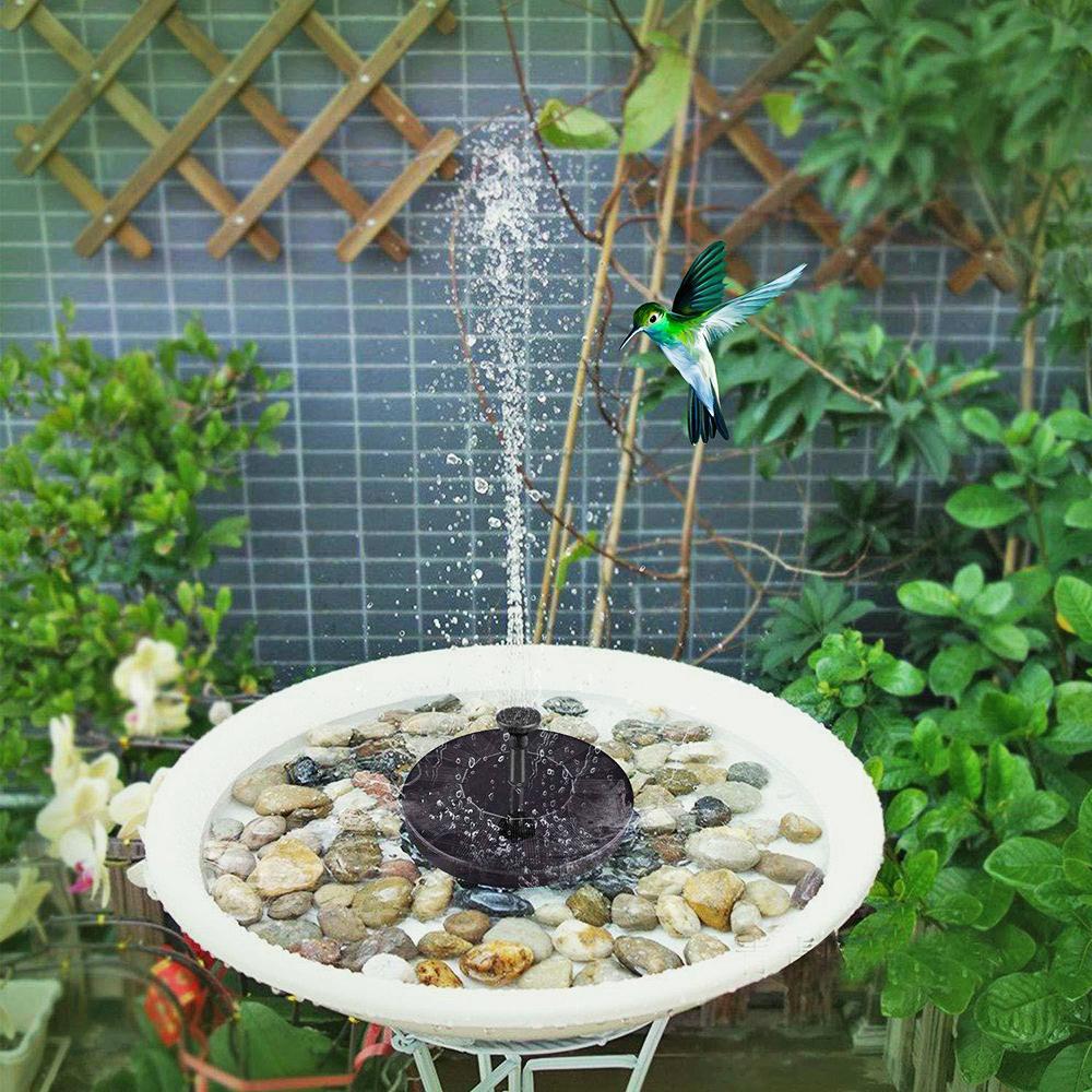 Миниатюрный садовый фонтан на солнечной батарее декоративная